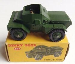 dinky toys 673 scout car driver in