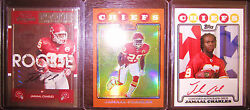 2008 Topps Gold Rookie Premiere Red Ink Auto Contenders Auto Jamaal Charles Rc