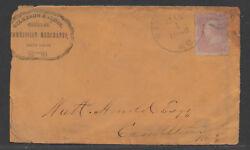 Us 19th Century Advertising Cover, Sc 64, St. Louis, Mo, 5/1/1862, Front Only