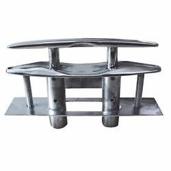 Marine 6 Flush Pop-up Pull Cleat 316 Stainless Steel Dock Boat W Backing Plate
