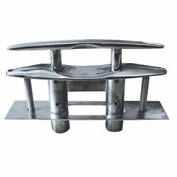Marine 8 Flush Pop-up Pull Cleat 316 Stainless Steel Dock Boat W Backing Plate