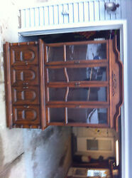 Vintage Furniture Antique Dining Buffet Cupboard Case + Chest Of Drawers