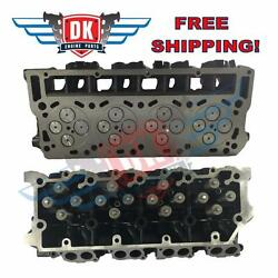 New O'ringed Complete Ford 6.0 20mm Turbo Diesel Truck Cylinder Heads Pair 05-07