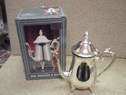 Vintage Wm Rogers And Sons Coffee/tea Pot Silverplated