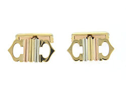Trinity 18k Tri Color Gold Cufflinks