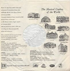 Vintage Inner Sleeve Or Sleeves 12 Emi The Musical Centres Of The World X 1