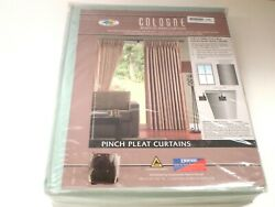 Blockout Curtains Window Pleat Pinch Fabric Blackout Eyelet Themral Lined