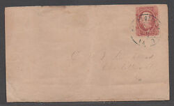 Csa Cover Sc 8 Charlottesville Va 12/23/1863 2andcent Drop Letter Rate