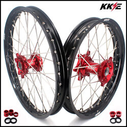 Kke 21/19 Mx Spoked Wheels Rims For Honda Crf250r 2004-2013 Crf450r 2002-2012