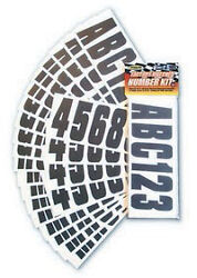 3 1/4 Inch Black Boat Letters And Numbersstickersnumber Kit Blk350ec