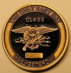 Naval Special Warfare Center Seal Buds Class 309 Navy Challenge Coin / Forces