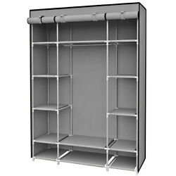 Sunbeam Free Standing Storage Closet With 13 Shelves amp; Roll Down Covers Gray