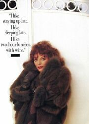 Joan Collins Owned And Worn Fox/suede Fur Coat. Photo Matched