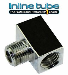 3/16 Inverted Flare Brake Line Chrome Brass Tee 3/8-24 And 1/8 Npt Male Cte08 1pc