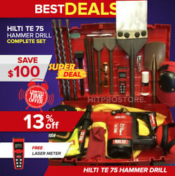 Hilti Te 75 Hammer Drill Preowned Free Measurer Bits Extras Quick Delivery
