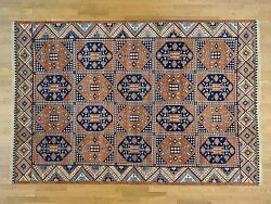 9and03910x14and03910 Garden Design Afghan Ersari Hand Knotted Oriental Rug G30336