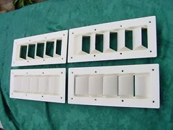 Boat Vent Louver 14 Bilge Exhaust Sea Ray Silverton 4 Pack New White