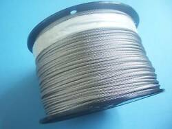 304 Stainless Steel Wire Rope Cable 1/16 7x7 2500 Ft Made In Korea