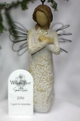 Willow Tree Angel Statue Figurine Gold Letters 2016 A Year To Remember Ornament