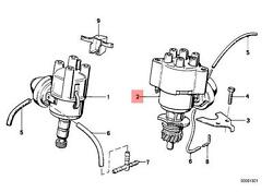 Genuine BMW E28 E30 Cabrio Coupe Sedan Ignition Distributor OEM 12111706458