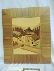 Scarce Martin Krause Germany Wood Inlay Art Work Black Forest Miller House