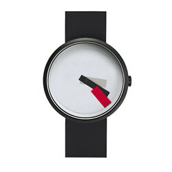 Projects Watches Suprematism Red Acero Ip Negro Blanco Silicon Reloj Unisex