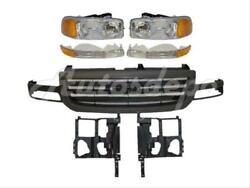 For 03-07 Sierra 1500 2500 Grille Grey Headlight Support Panel Signal Light 7pc