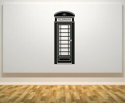 Telephone Box - London Phone Red Retro Art Decal Sticker Picture Poster