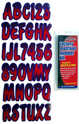 3 Inch Red/purple Shaded Boat Lettersnumbersstickers Number Kit
