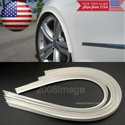 4 Pieces 47 White Arch Wide Body Fender Flares Extension Lip Guard For Dodge
