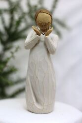 5.5 Angel Statue Lots Of Love Figurine Hearts Mothers Day Mom Gift Willow Tree