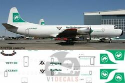 V1 Decals Lockheed L-188 Electra Buffalo Airways For 1/144 Minicraft Model Kit