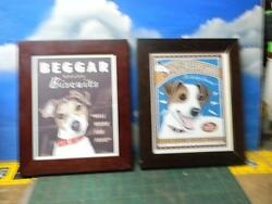 PAIR OF RETRO PETS  JACK RUSSEL TERRIER FRAMED POSTERS BY KRISTA   -GENTLY USED