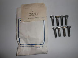 302860 New Oem Johnson Evinrude Outboard Bolts 8 Pcs 0302860 Inventory A8-5