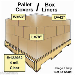 Pallet Covers / Bin Box Gaylord Liners 53x42x78 Clear 4 Mil Roll/35 122962