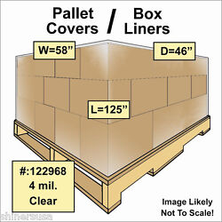 Pallet Covers / Bin Box Gaylord Liners 58x46x125 Clear 4 Mil Roll/20 122968