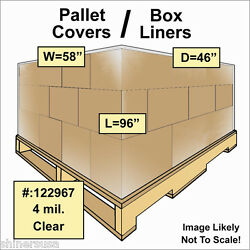Pallet Covers / Bin Box Gaylord Liners 58x46x96 Clear 4 Mil Roll/25 122967