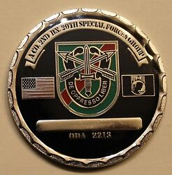 20th Special Forces Gp Airborne 2 Bn A Co Oda 2213 Ser35 Army Challenge Coin