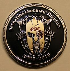 20th Special Forces Gp Airborne 2 Bn A Co Oef 2009-10 Ser79 Army Challenge Coin