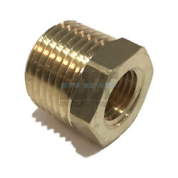 Brass Hex Bushing Reducing Npt Threads Pipe Fitting 1/2 Male X 1/4 Female Qty 10