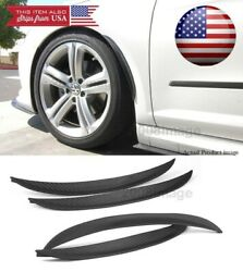 2 Pairs 13 Carbon Diffuser Fender Flare Lip Trim For Bmw Audi Wheel Wall Panel