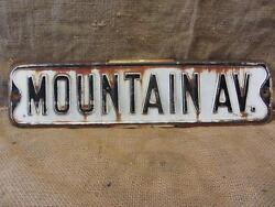 Vintage Embossed Mountain Ave Road Street Sign Antique State County Signs 9618