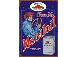 Mobil Oil Gargoyle Can Extra Large Heavy Duty Metal Sign