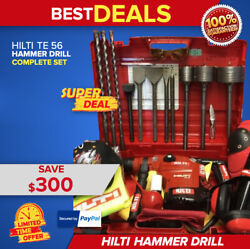 Hilti Te 56 L@@k Excellent Condition Made In Germany Free Thermos Fast Ship