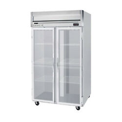 Beverage Air HFPS2HC-1G Glass Door Two-Section Reach-In Freezer