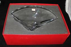 Baccarat Crystal Collines Triangular Shaped Bowl Or Vase Mint In Box