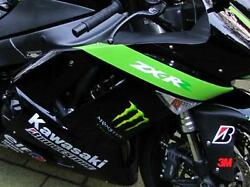For Kawasaki Zx-6r Real Carbon Side Panel 07-08 New