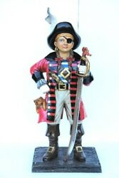Pirate Statue - Pirate Decor - Pirate Girl With Sword Life Size 4and039 - Pirate Girl