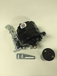 New Willys Jeep Alternator One 1 Wire Black 12v 65a, 5/8 Pulley, Bracket, Coil