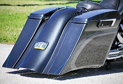 1990-2008 Touring Harley Stretched Saddlebags And Rear Fender Bags Tol Smooth